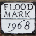 Flood mark, Haxted Mill