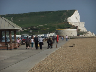 Looking back to Seaford Head